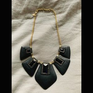 Alexis Bittar Lucite Articulating Bib Necklace